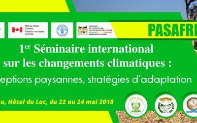 Participation de la CNA au 1er séminaire international du PASAFRED sur les changements climatiques